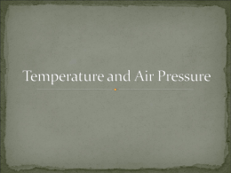 Temperature and Pressure Notes - Red Hook Central School District