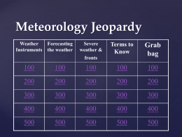 Meteorology Jeopardy