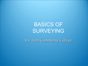 BASICS OF SURVEYING - Ivy Tech -