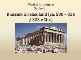 Week 3 Klassiek, powerpoint 1