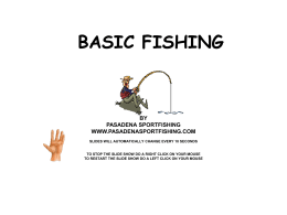BASIC FISHING - Pasadena Sportfishing Group