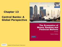 Chapter 13 Central Banks: A Global Perspective