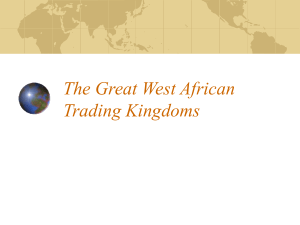 The Great West African Trading Kingdoms