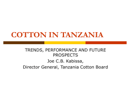 COTTON IN TANZANIA