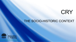 Tutorial 3: The socio-historic context