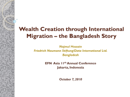 Wealth Creation through International Migration