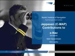 Jeppesen ENC - Nordic Institute of Navigation