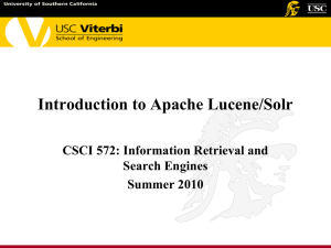 Introduction to Lucene and Solr