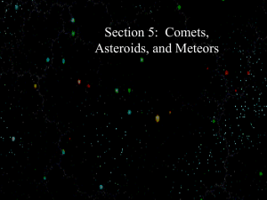 Section 5 Comets, Asteroids, and Meteors2