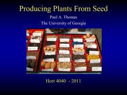 Seed Lecture - University of Georgia