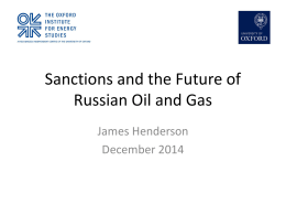 Sanctions and the Future of Russian Oil and Gas
