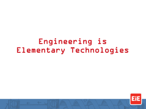 Engineering is Elementary Technologies