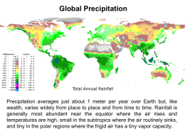 seasons and timing of precipitation and runoff
