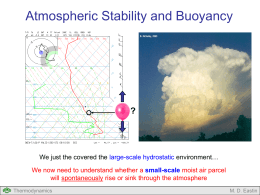 Lecture #11: Parcel Buoyancy and Atmospheric Stability