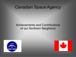Canadian Space Agency Technology