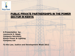private sector investment in kenya power sector