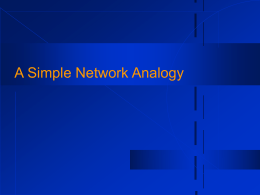 A Simple Network Analogy