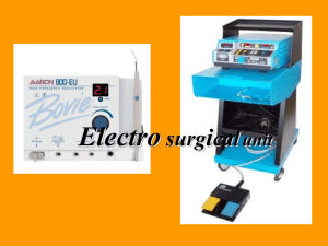 Electro surgical unit