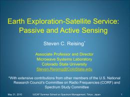 EESS - passive and active - Reising