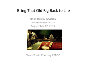 Bring that old rig back to life