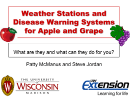 Disease Warning Systems for Apples
