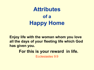 Characteristics of a Happy Christian Home