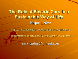 The Role of Electric Cars in a Sustainable Way of Life