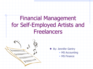 Taxes for Artists - FAA Career Services