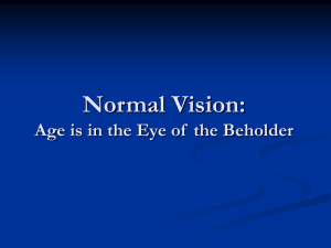 Normal Ageing Vision - McGill Vision Research