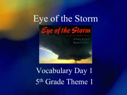 Eye of the Storm - Palmdale School District