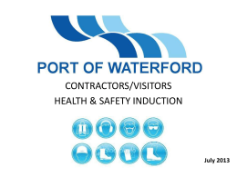 induction - Port of Waterford