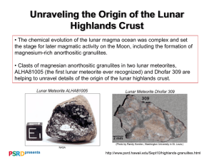 Unraveling the Origin of the Lunar Highlands Crust