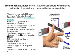 The Left Hand Rule( for motors)