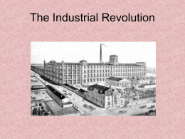 8-1 The Industrial Revolution