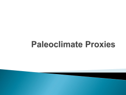 Climate Proxy PowerPoint