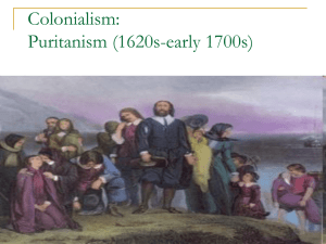 Colonialism Puritanism