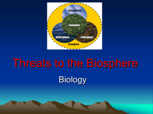 Threats to the Biosphere powerpoint