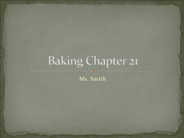 Baking Chapter 21 - Riverdale High School