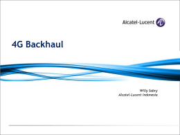 4G backhaul