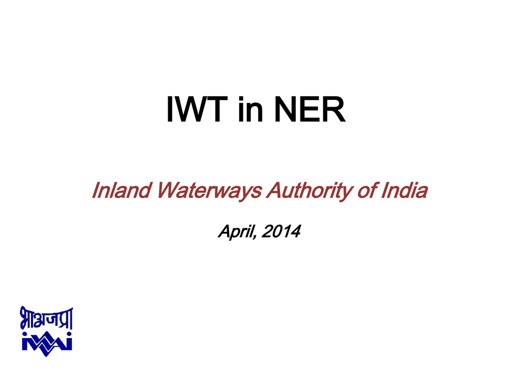 Inland Water Transport in NER, April 2014