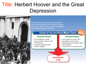 Herbert Hoover & Great Depression