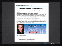 Bill Dallas - Mortgage Coach