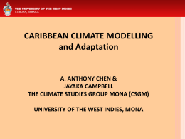 A. Anthony Chen - Uwi.edu - University of the West Indies