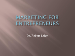 Marketing for Entrepreneurs 1