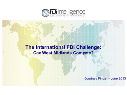 The fDi Report 2013: Global trends
