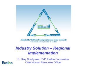 Industry Solution – Regional Implementation