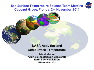 Eric Lindstrom - The Second NASA SST Science Team Meeting