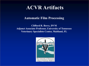 Automatic Film Processing Clifford R. Berry, DVM Adjunct Associate