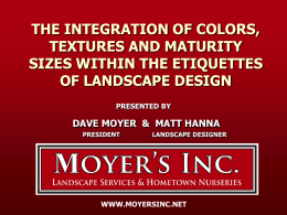the integration of colors, textures and maturity sizes within