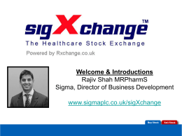 and introduction to sigXchange (x)